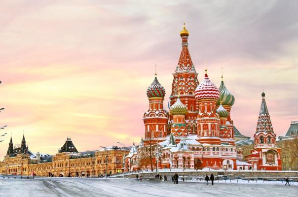 Roter Platz Moskau Winter
