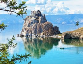 Baikalsee in Sibirien Russland, Insel Olchon, Transsibirische Eisenbahn Reise: Baikalsee