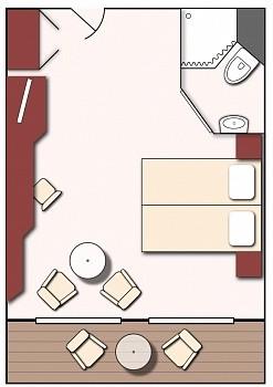 Kabinenplan Suite - MS M. Rostropovich, Flusskreuzfahrt