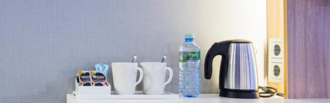 Wasserkocher im Zimmer - Holiday Inn Express Moskau***