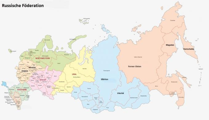 Russland-Karte