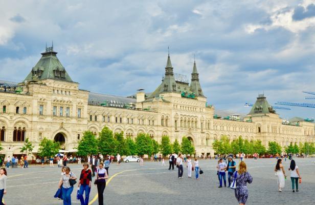 Urlaub in Moskau: Kaufhaus GUM