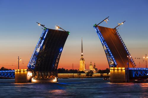 Schlossbrücke über die Newa, St. Petersburg