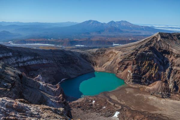 Vulkan Gorelij mit Kratersee, Kamtschatka