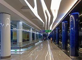 Neue Metrostation Novokrestovskaya