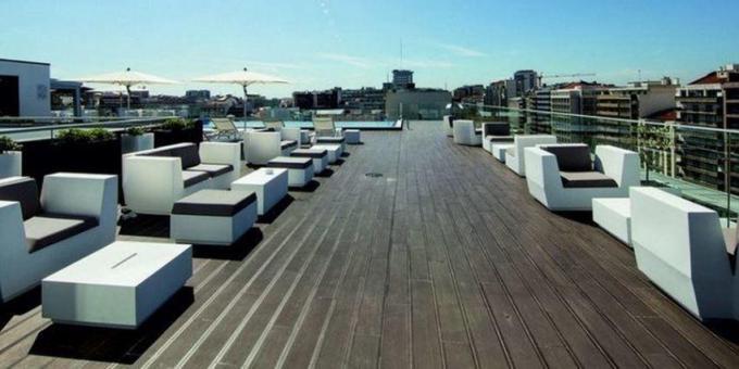 Terrasse - Hotel Jupiter, Lissabon