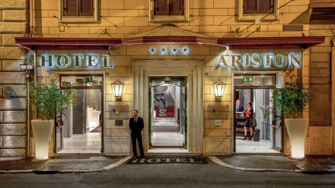 Eingang - Hotel Ariston, Rom