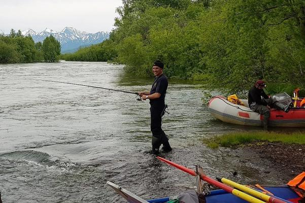 Angeln und Rafting, Kamtschatka
