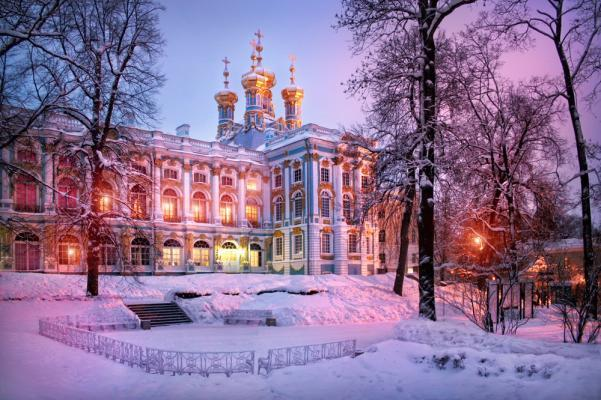 Katarinenpalast im Winter, St. Petersburg