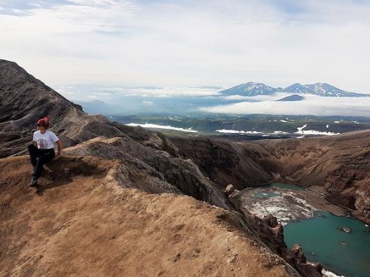 Kamtschatka, Vulkan Gorelij Kamtschatka
