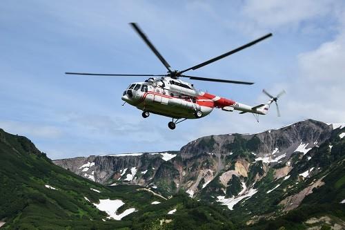 Helikopterflug, Kamtschatka