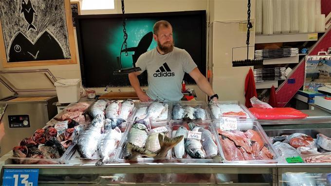 Fischmarkt Petropawlowsk, Kamtschatka