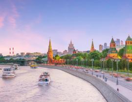Reise nach Moskau, Fluss Moskwa in Moskau, Premium-Reise Moskau