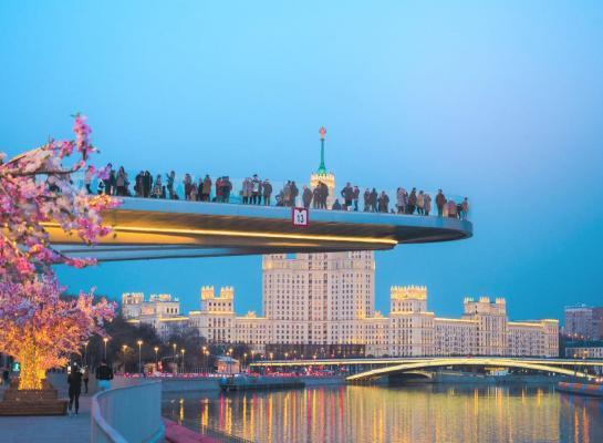 Reise nach Moskau, Schwebebrücke Sarjadje-Park, 8 Tage Moskau, Moskau Pauschal