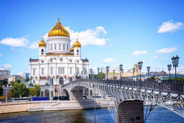 Premium-Reise Moskau und St. Petersburg, Moskau: Christ-Erlöserkirche, Urlaub Russland, Städtereise Russland