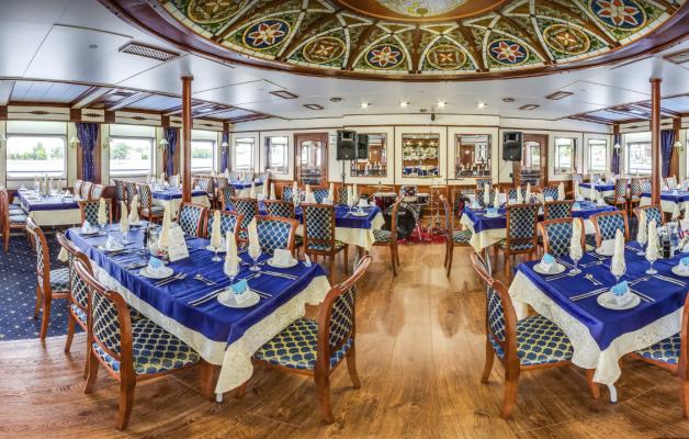 Restaurant - MS Moonlight Sonata, Wolga-Flusskreuzfahrt