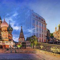 Moskau und St. Petersburg Russland