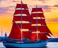 Rote Segel St. Petersburg